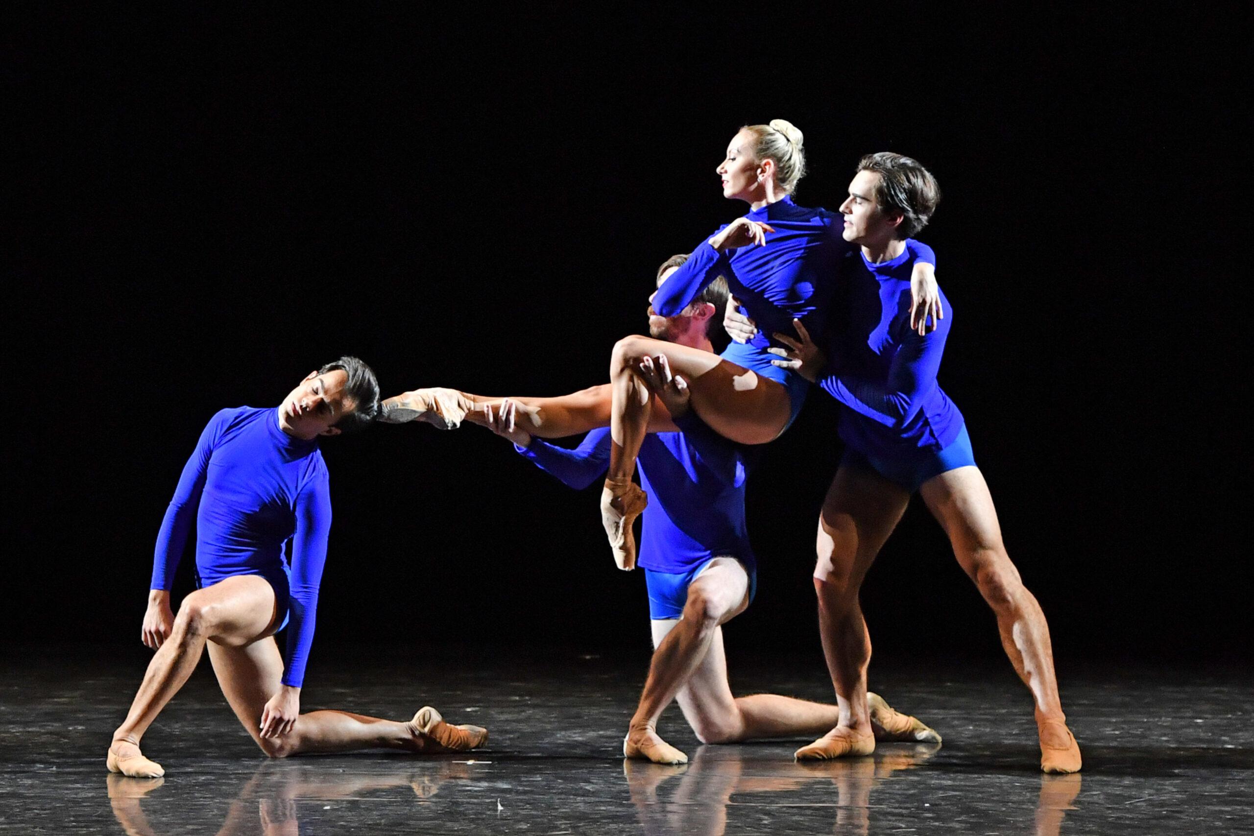 Rhapsody in Blue group of 4 dancers